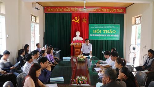 Hội thảo nâng cao năng lực sản xuất Nấm tại Hà Tĩnh